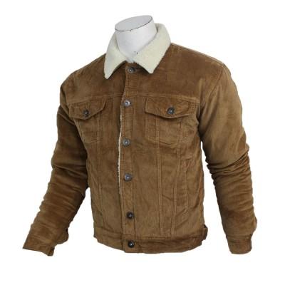 J.Fisher Corduroy Fur Jacket For Men