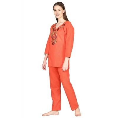 Noty ® Girl's/Women's Woollen Fleece- Woolen/Winter- Night Suit