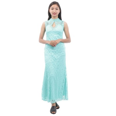Embroidered Lace Party Dress For Women