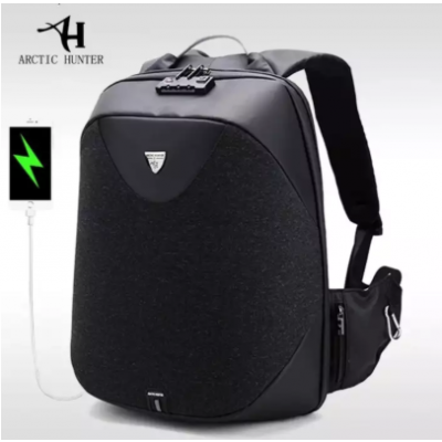 Anti Theft Laptop Backpack - Arctic Hunter Waterproof Backpack with USB Charging Port for 15.6'' Laptop, Black