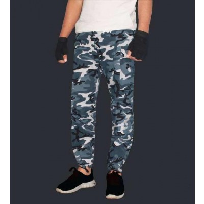 White/Grey Combat Pants For Men