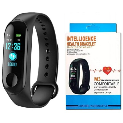 M3 Intelligence Bluetooth Health Wrist Smart Band Watch Monitor/Activity Tracker/Smart Fitness Band Compatible for All