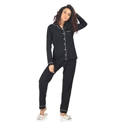 NITE FLITE Women's Cotton Nightdress Full Pyjama Set for Sleepwear