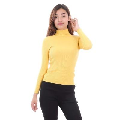 Slim Fit Woolen Highneck Sweater For Women