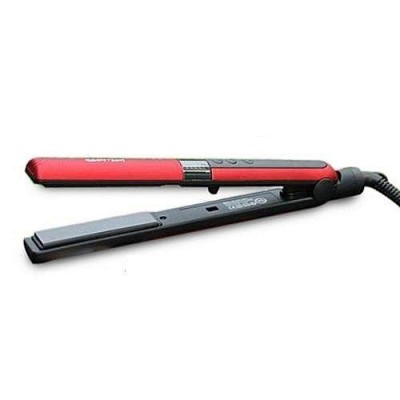 Gemei Red/Black Professional Hair Straightener