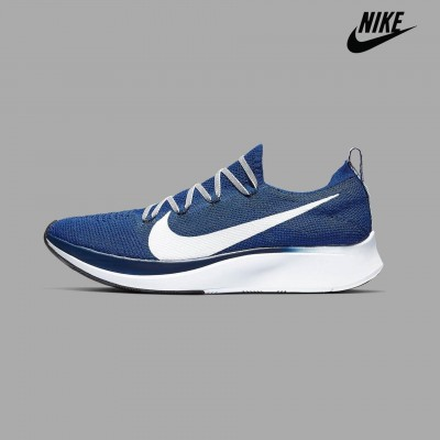 Nike Blue Zoom Fly Flyknit Running Shoes For Men - AR4561-400