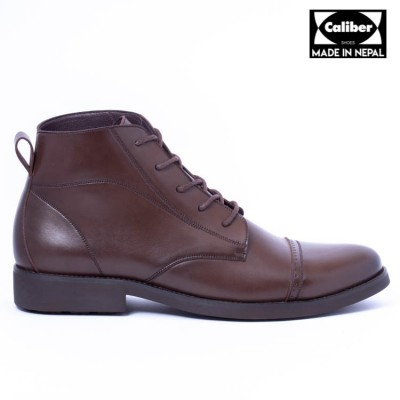 Caliber Shoes Coffee Lace Up Lifestyle Boots For Men - ( 230 C )