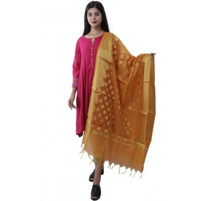 Women's Kora Silk Banarasi Dupatta/Chunni