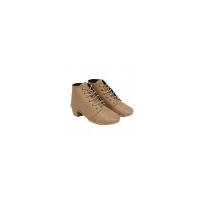 Cream Half Boot For Womens