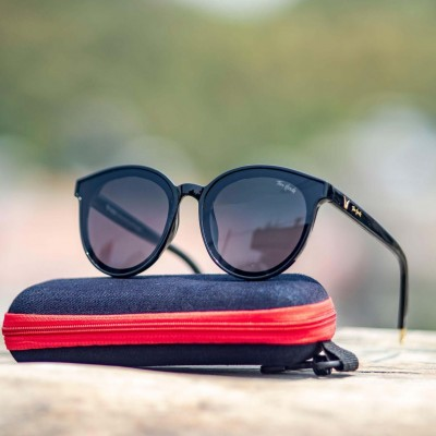 Tom Hardy Th- Bp-Black Lens Cat Eye Sun Glasses For Women