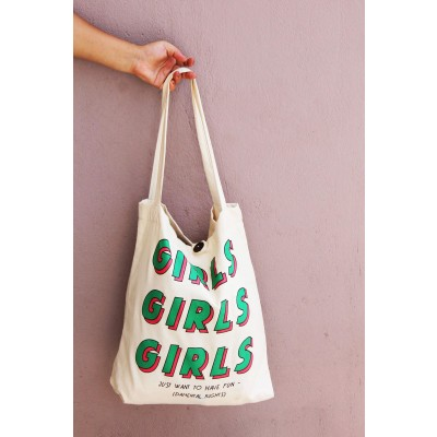 Girls Girls bag green and pink print
