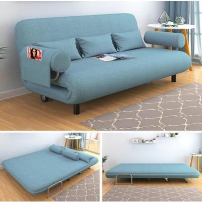 Carbon Steel Frame Living Room Sofa Bed Furniture Modern Washable Linen Cotton Sponge Filler Multifunctional Sofa Bed