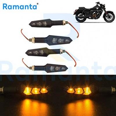 Ramanta® 4Pcs 6LED Motorcycle Bike Turn Signal Indicator Light Turning Lamp 12V for UM All Bikes