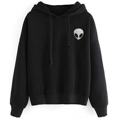 Alien Printed Black Unisex Sweatshirt