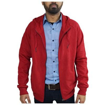 Zip up hoodie for men ( Red)