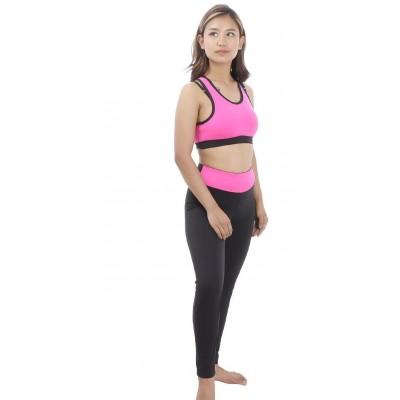 Back V Designed Strap Women's Active Wear Set