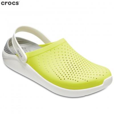 CROCS Tennis Ball Green/White Light Ride Clog Unisex - 204592-38L