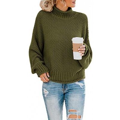 Loose Turtleneck Pullover Sweater