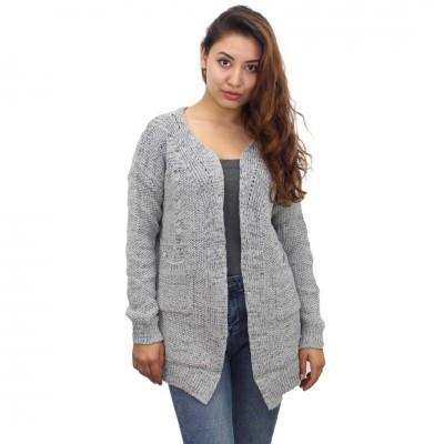 Grey Woolen Outer For Women