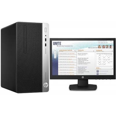 HP ProDesk 400 G5 Microtower PC 8th Gen i5 1 TB HDD 4GB RAM Intel 630 Graphics 18.5 inches Monitor Free DOS
