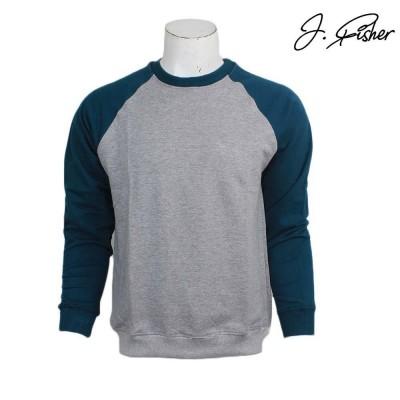 J.Fisher Cotton Fleece Baseball Sweatshirt For Women
