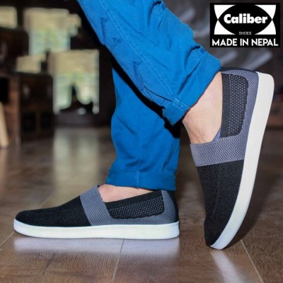Caliber Shoes White Casual Slip on Shoes For Men - (705)